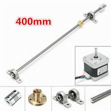 NEMA17 Stepper Motor with 400mm T8 Lead Screw Mounted Ball Bearing