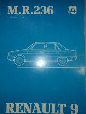 RENAULT 9 R9 MANUEL REPARATION MECANIQUE MR 236 PIECES REFERENCE DESSIN 1981