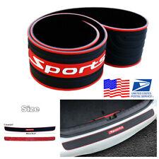 Car Rear Bumper Guard Trunk Edge Rubber Protector Strip Non-slip Cover+3M Tape