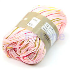 1 Skein 50g High Quality Natural Silk Cotton Baby Sweater Soft Yarn Knitting Hot