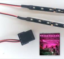 ROSA MODDING CASE PC LUCI LED Kit (Twin 15cm Strisce) Molex Tails 40 cm