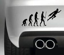 EVOLUTION SUPERMAN 4X4  FUNNY CAR BALL BUMPER STICKER  DRIFT