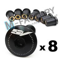 Black SV Logo Fairing bolts screws wellnuts set For Suzuki SV 650 1000 S 03-09
