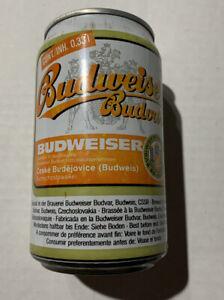 Vintage Very Rare Budweiser Budvar Czech Beer Can
