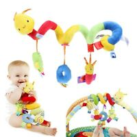 Soft Plush Spiral Toy Crib Cot Pram Hang Characters Rattles Spiral Stroller Toy