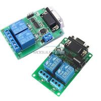 DC 5V 12V 2 Channel RS232 Serial Port  Relay Module DB9 Interface PC Relay