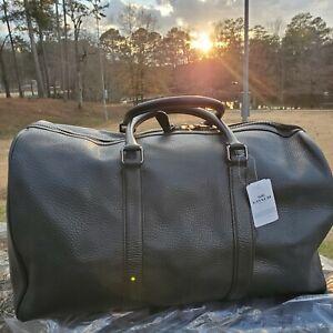 COACH F83962 Trekker Leather Duffle Travel Bag Gym Carryon Men's NWT
