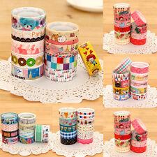 10 Mehrfarbig Washi Tape Regenbogen Klebend Papierbasteln Sebstklebend DIY Dekor