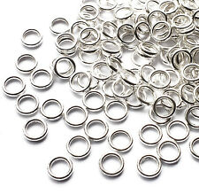 100 Strong Silver Plated 6mm Closed Soldered Jump Rings Connector Link 1mm thick