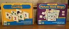 Lot of 2 The Learning Journey MATCH IT games 1.Picture Word Bingo & 2.Counting
