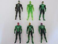 "Set of 6 pcs Mattel Green Lantern Movie DC Comics 4"" Figure Movable Joints Toys"