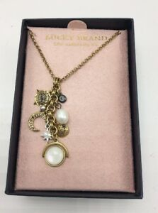 $39 Lucky Brand Mother of Pearl gold ton necklace D106