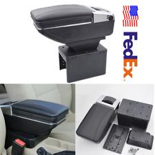 USA Black PU Leather Car Seat Center Box Armrest Console Storage Organizer Case