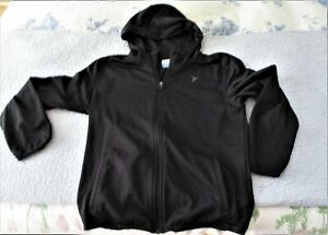 OLD NAVY ACTIVE WEAR BOYS FRONT ZIPPER BLACK HOODED JACKET. L/G PREOWNED  (4696)
