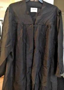 JOSTEN BLACK MATTE GRADUATION GOWN , CHOIR ROBE CLERGY- & OTHER   BRAND ACADUMUS
