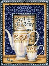 """Counted Cross Stitch Kit Make Your Own Hands - """"Tea collection: Earl Gray"""""""