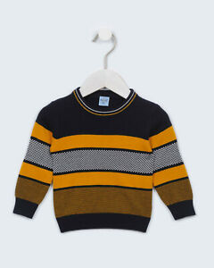 Boys Yellow/Navy Red Long Sleeve Checkered Sweater 6-36 Months