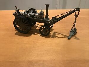 Collectors Die cast Model Military Traction Engine With Crane And Cannon Load