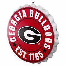 "Georgia Bulldogs Bottle Cap Sign - Est 1785 - Room Bar Decor DAWGS NEW 13.5"""