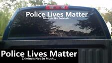 """Police Lives Matter Windshield Banner Decal / Sticker 5x40"""" thin blue line cops"""
