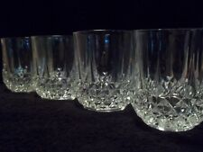 """Cristal d' Arques """"LONGCHAMP"""" - DOUBLE OLD FASHIONED GLASSES  - Set of (4)"""