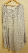 Witchery women's high waisted maxi skirt blue/white size 16