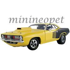 Acme A1806118 1972 Plymouth Hemi Drag Cuda 1/18 Diecast Yellow / Black