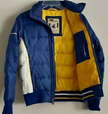Abercrombie And Fitch Rare Vintage Boys Jacket Down Puffy Blue Outwear Coat L