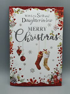 Son and Daughter-In-Law Christmas Card, Xmas Card, Merry Christmas With Love