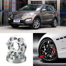 "4pcs 1"" Wheel Spacers Adapters 5 Lug 5x4.5""/5x114.3-12x1.5 For Hyundai Santa Fe"