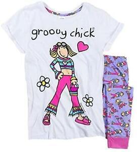 Ladies Groovy Chick Pyjamas Character Nightwear Women Pjs Gift Size 8-22