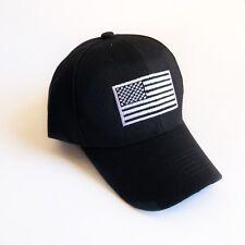New USA Flag Hat Cap US American Dad Hat Olympic Team Polo Baseball Black White