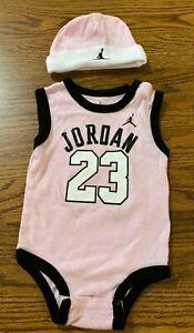 Michael Jordan #23 Jumpman Pink Baby Jumpsuit ~ Size 0-6 Months ~ Chicago Bulls
