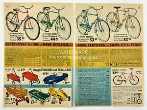 1966 Bicycles Balancers Wagons Pedal Cars Lighting Accessories Catalog Ad 464A