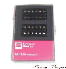 Seymour Duncan Alnico 2 Pro Humbucker Pickup Set, Black, 11108-04B