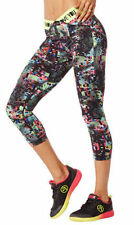 Authentic New Zumba Get Charged Up V Waistband Capri Leggings Pants  ~ 2XL ~ NWT