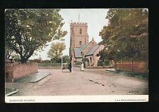 Somerset BURNHAM Church c1900/10s? PPC local pub Pople