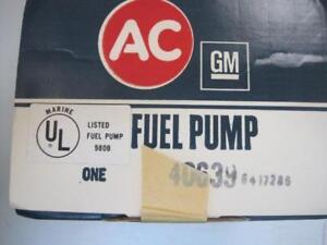 4906 AC GM Chevrolet 40639 980B Fuel Pump 427 Mercruiser FREE shipping USA
