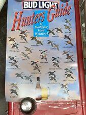 Rare Bud Light Beer poster Texas Hunters Waterfowl liquor store 1991 Beautiful
