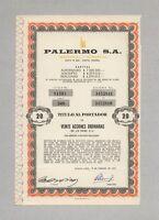 PALERMO Industrial & Comercial S.A. – Aktie, 20 Peso, BUENOS AIRES, 15.02.1973