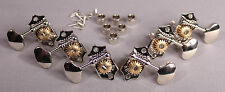 Grover Acoustic Guitar Sta-Tite Tuners w Butterbean Shaped Keys Nickel