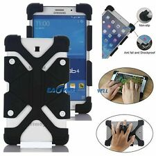 """Safe Soft Silicone Stand Case Cover For Samsung Galaxy Tab A/E/S2 /4 7"""" 8"""" Black"""