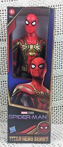 Titan Hero Series Marvel Studios Spiderman No Way Home Black Gold Suit Hasbro