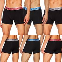 Jack & Jones Mens Jac tommy Trunks Designer Boxer Shorts Black Elasticated Waist