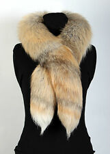2012 Noble Real Golden Island Genuine Fur Boa Natural Scandinavian Fox Fur Scarf