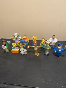 SIMPSONS THE MOVIE Burger King LOT of 11 Figures