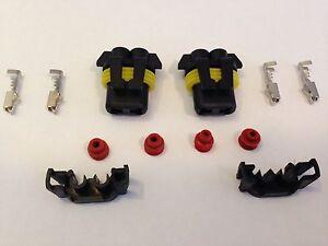 2 x 9006 / HB4  Female connectors connector HID plug socket new