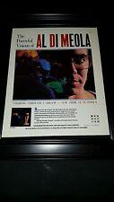 Al Di Meola Soaring Through A Dream Rare Original Promo Poster Ad Framed!