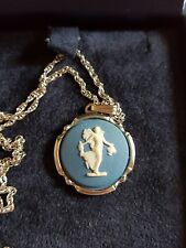 """Sterling Silver Wedgewood Blue Fairy Pendant 20"""" chain."""