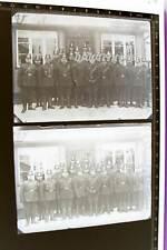 zwei tolle alte Glasnegative - Gruppenfoto Polizisten Tschako  - 1910-20 ???